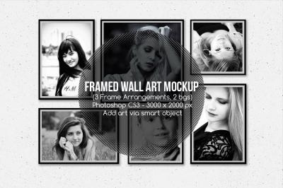 Framed Wall Art Mockup v1