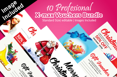 10 Christmas Gift Voucher Card Bundle