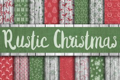 Rustic Christmas Digital Paper