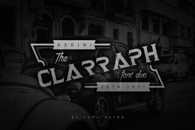 Clarraph Display & Handwritten Font Duo
