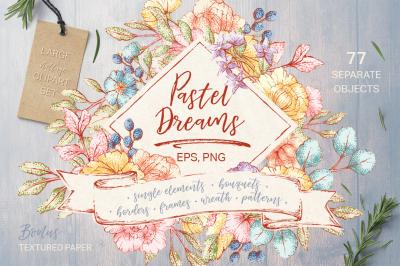 Pastel Dreams: vector clipart