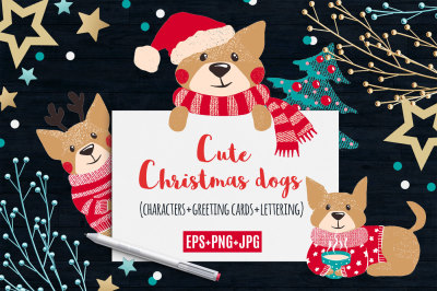 Cute Dogs for Christmas and New Year