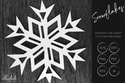 Snowflake SVG Cut File - Snow Flake Cut File - Christmas SVG