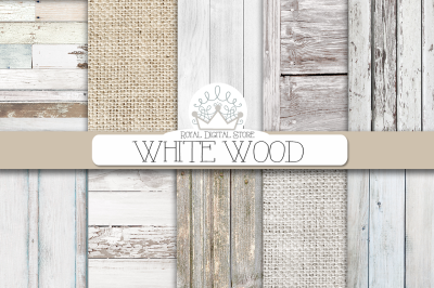 WHITE WOOD digital texture