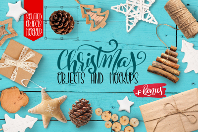 Christmas isolated objects and mock ups