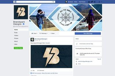 FB Cover - Modern Rhombus