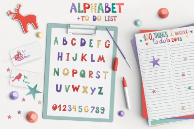 Funny watercolor Alphabet