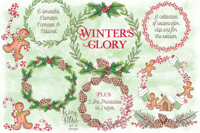 Winter's Glory -Clip Art + 3 Art Prints