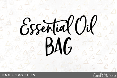 Essential Oil Bag SVG/PNG Graphic