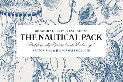 88 Vintage Nautical Illustrations