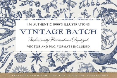 156 Misc. Vintage Illustrations Pack