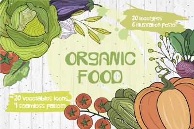 Vegetables set. Organic food