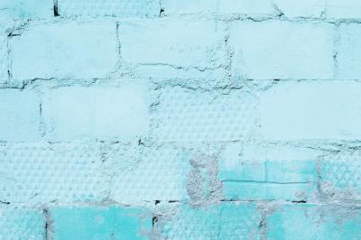 Painted Blue Bricks Wall