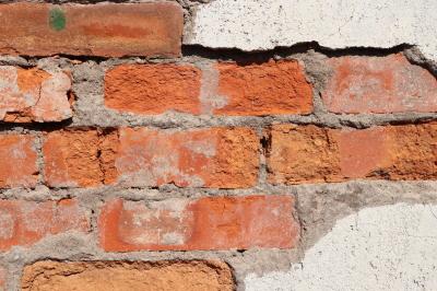 Destroyed Bricks Wall