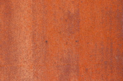 Rusty Paint Wall Texture. Screws. Blank Clean Corroded Surface.