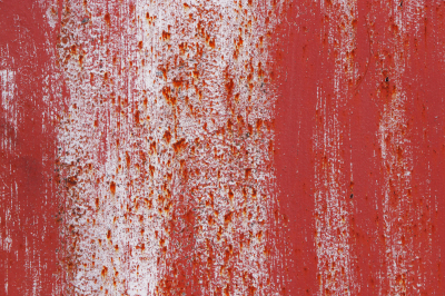 Red and White Rusty Paint Wall Texture. Brush Strokes.