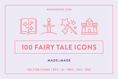 Line Icons – Fairy Tale
