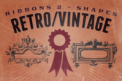 Retro/Vintage shapes - Ribbons 2