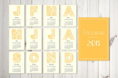 Creative calendar 2018