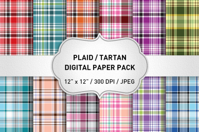 Plaid Digital Paper Pack