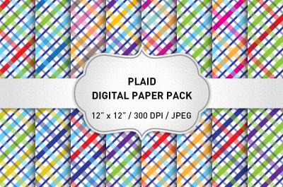 Christmas Plaid Digital Paper Pack