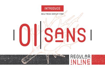 OI sans (Regular & Inline)