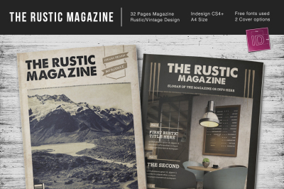 The Rustic Magazine Indesign Template