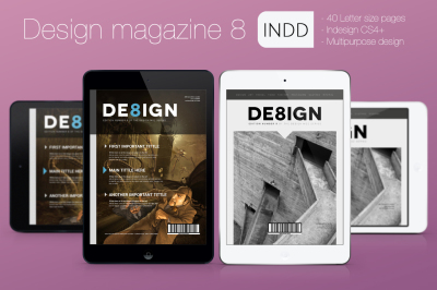 Design Magazine 8 for Tablet Indesign Template