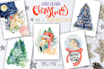 Christmas watercolor cards Vol.3