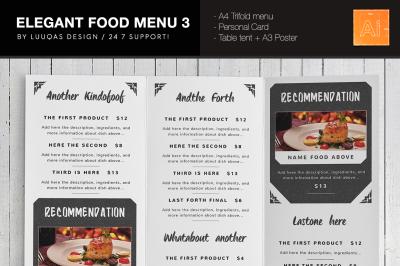 Elegant Food Menu 3 Illustrator