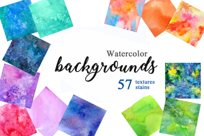 Watercolor colorful backgrounds.