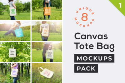 Canvas Tote Bag Mockups Pack Vol. 1