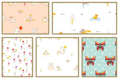 Ah, so sweet! Seamless Patterns