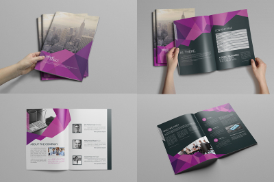 Abstract Bi fold Brochure-16 Pages