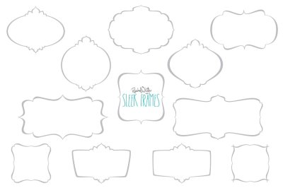 Sleek Frames, Vector & PNG