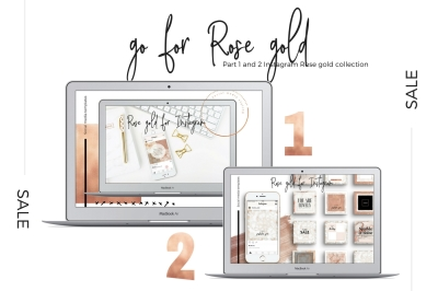 Sale! Go for rose gold 1 + 2