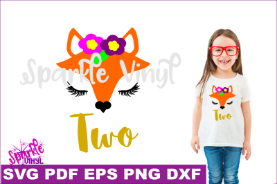 Svg Woodland Fox Face nursery shirt sign second birthday two party svg files for Cricut or Silhouette printable DIY party favors and invites