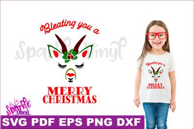 SVG Merry Christmas Goat Farmhouse Style Sign Decor Svg cut Stencil files for cricut or shilhouette,