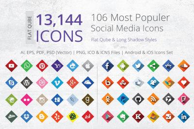 212 Qube Social Media Icons