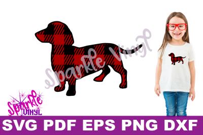 SVG buffalo plaid dachshund dog shirt gift for dachshund printable svg files for cricut silhouette Svg DIY sign stencil plaid dachshund svg