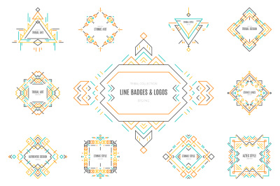 Tribal Line Logos & Badges Templates