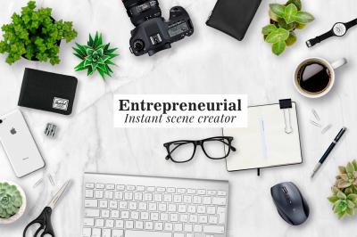 Entrepreneurial scene creator kit