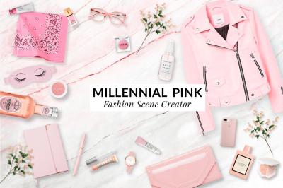 Millennial pink scene creator kit