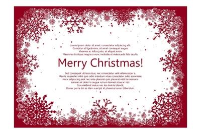 Christmas Snowflakes Frames. Vector illustration.