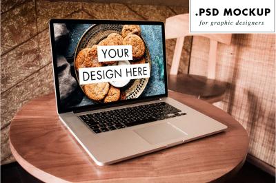 Photoshop laptop mockup