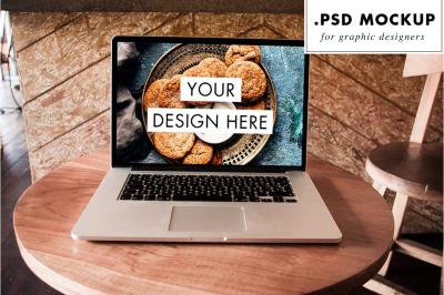 Mac PSD mockup - bar table