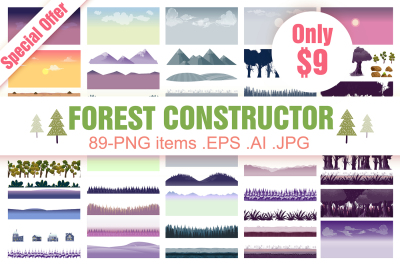 Forest Clipart Constructor