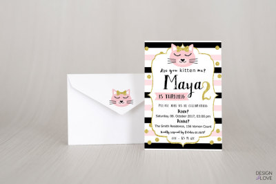 Birthday Invitation Card PUUUURFECT PARTY