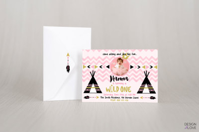 Birthday Invitation Card WILD ONE BIRTHDAY