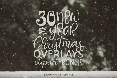 30 Christmas & New Year Overlays.